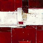 2011 Red Abstract II painting
